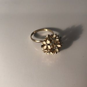 Gold Flower Bouquet Ring